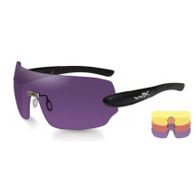 Wiley X DETECTION  Yellow/Orange/Purple Matte Black Frame - Front View