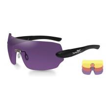 Wiley X DETECTION  Yellow/Orange/Purple Matte Black Frame - Front View