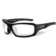 Wiley X Echo Glasses - Clear, Gloss Black Frame - Front View