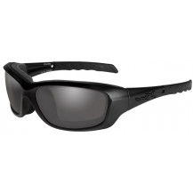 Wiley X Gravity Glasses - Smoke Grey, Matte Black Frame - Front View