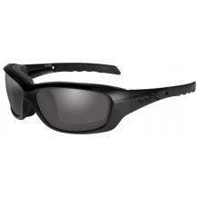 Wiley X Gravity Glasses - Smoke Grey, Matte Black Frame - Front View
