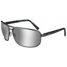 Wiley X Hayden Glasses -  Polarized Grey Silver Flash, Matte Dark Gunmetal Frame - Front View