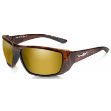 Wiley X Kobe Glasses - Pol Amber Gold Mirror, Gloss Hickory Brown - Front View