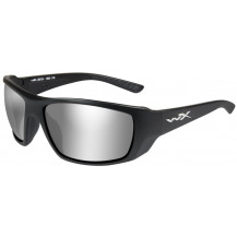 Wiley X Kobe Glasses - Smoke Grey Silver Flash, Matte Black Frame - Front View