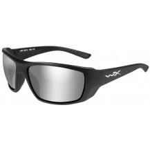 Wiley X Kobe Glasses - Smoke Grey Silver Flash, Matte Black Frame - Front View