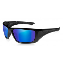 Wiley X NASH Polarized Blue Mirror Matte Black Frame - Front View