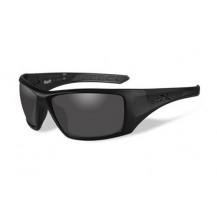 Wiley X NASH Polarized Smoke Grey Matte Black Frame - Front View