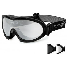 Wiley X Nerve Goggles - Smoke/Clear, Matte Black Frame - Front View