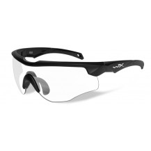 Wiley X Rogue Comm Glasses -  Clear, Matte Black Frame - Front View