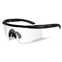 Wiley X Saber ADV. Glasses - Clear, Matte Black Frame w/Bag - Front View