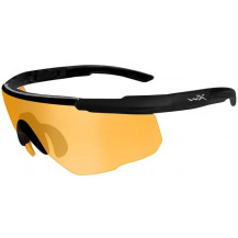 Wiley X Saber ADV. Glasses - Light Rust, Matte Black Frame w/Bag - Front View
