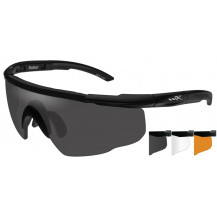 Wiley X Saber ADV. Glasses - Smoke/Rust, Matte Black Frame - Front View