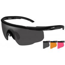 Wiley X Saber ADV. Glasses - Smoke/Rust/Vermillion, Matte Black Frame - Front View