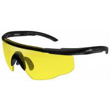 Wiley X Saber ADV. Glasses - Yellow, Matte Black Frame w/Bag - Front View