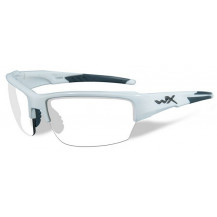 Wiley X Saint Glasses - Clear Lens, Gloss White Frame - Front View