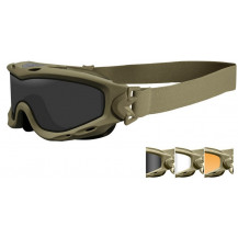 Wiley X Spear Dual Goggles - Smoke/Clear/Rust, Tan Frame - Front View
