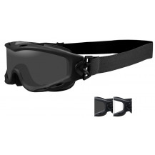 Wiley X Spear Goggles - Smoke/Clear, Matte Black Frame - Front View