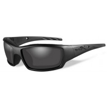 Wiley X Tide Glasses - Grey Lens, Matte Black Frame - Front View