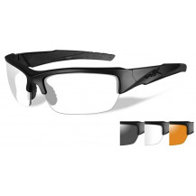 Wiley X Valor Glasses - Clear/Grey/Rust, Matte Black Frame - Front View