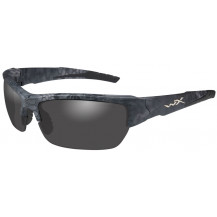 Wiley X Valor Glasses - Clear Lens, Polarized Smoke Grey, Kryptek Typhon Frame - Front View