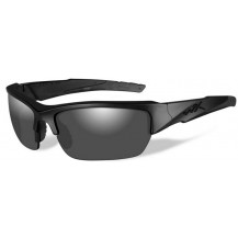 Wiley X Valor Glasses - Polarized Smoke Grey, Matte Black Frame - Front View