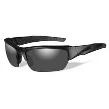 Wiley X Valor Glasses - Smoke Grey, Matte Black Frame - Front View