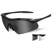 Wiley X Vapor Glasses - Grey/Clear, Matte Black Frame - Front View