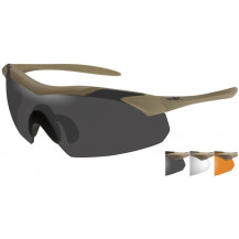 Wiley X Vapor Glasses - Grey/Clear/Rust, Tan Frame - Front View