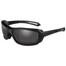 Wiley X Wave Glasses - Smoke Grey, Matte Black Frame - Front View