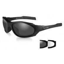 Wiley X XL-1 AD Comm Glasses - Smoke/Clear, Matte Black Frame - Front View