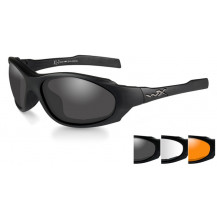 Wiley X XL-1 AD Comm Glasses - Smoke/Clear/Rust, Matte Black Frame - Front View