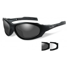 Wiley X XL-1 AD Glasses - Smoke/Clear, Matte Black Frame - Front View