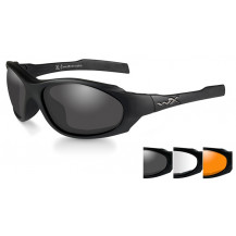 Wiley X XL-1 AD Glasses - Smoke/Clear/Rust, Matte Black Frame - Front View