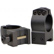 Warne Steel 30mm Matte Scope Rings - Extra High
