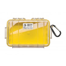 Pelican 1040 Micro Case with Liner - Yellow/Clear