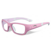 Wiley X Flash Glasses - Clear Lens, Rock Candy Pink Frame
