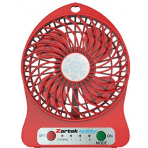 Zartek Breez Portable Rechargeable Mini Fan - Red