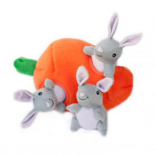 Zippy Paws Interactive Burrow - Bunny 'n Carrot