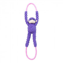Zippy Paws Monkey Rope Tugz - Purple