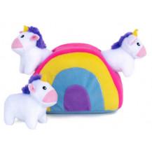 Zippy Paws Interactive Burrow - Unicorns In Rainbow