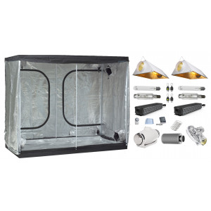 Stealth Grow Tent Combo- 240 x 120 cm, 2x 1000W Powerlux Ballasts, 2x Air-cooled Reflectors