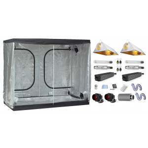 Grow Tent Combo - 240 x 120cm, 2x 1000W Powerlux Electronic, 2x Air-cooled Reflectors