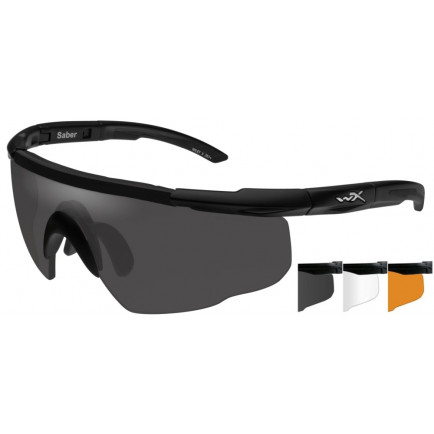 9e9f4cc0c96f Wiley X Saber Advanced Glasses - Smoke/Clear/Rust, Matte Black Frame
