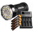 Acebeam X80 Flashlight Batteries Charger Combo + Nitecore Intellicharger i4 Battery Charger
