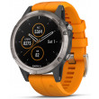 Garmin Fenix 5 Plus Sapphire Men's Watch - Titanium/Orange