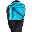 First Ascent Amplify 1500 Sleeping Bag - Charcoal/Blue Close Up View