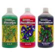 General Hydroponics Flora Series Nutrient Kit (3x 1L) - Hard Water