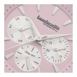 Lambretta Imola 36 Leather Women's Watch - Pink/Natural Close Up View
