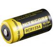 Nitecore RCR123A Li-Ion Rechargeable Battery 650 mAh