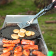 Tonglite 2 Illuminated BBQ Tongs In Use